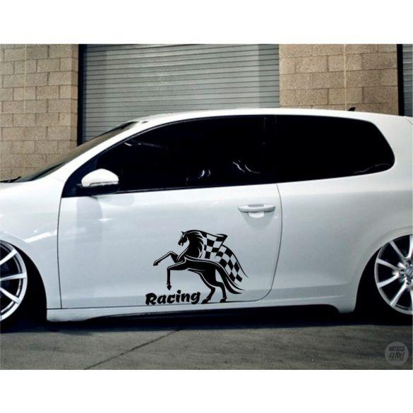 Racing ló tuning matrica (30x42 cm)
