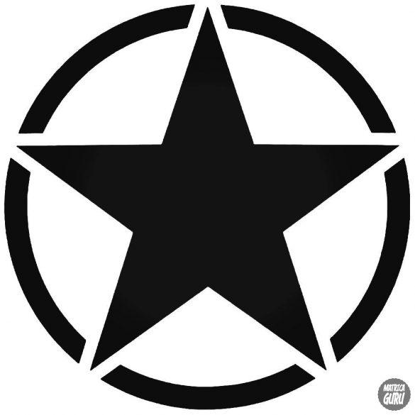 Katonai csillag tuning matrica (30-40 cm)
