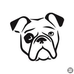 Bulldog matrica 10