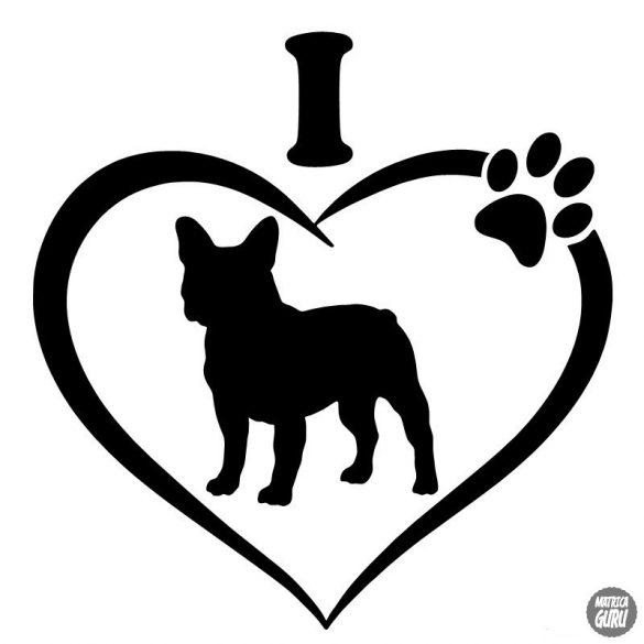 Francia bulldog matrica 12