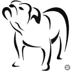 Angol bulldog matrica 18
