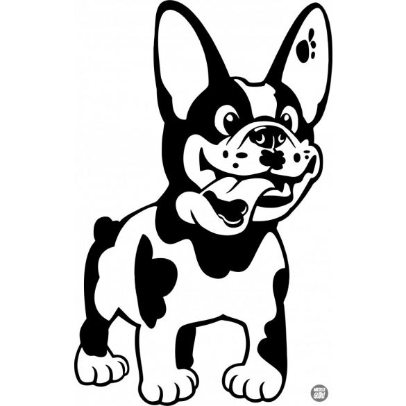 Francia bulldog matrica 20