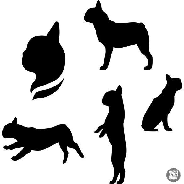 Francia bulldog matrica szett