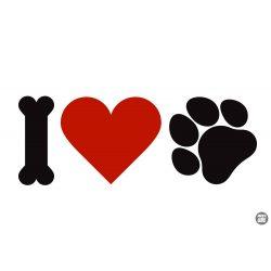 I Love dogs matrica