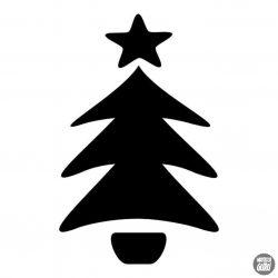 Rajzolt Karácsonyfa matrica