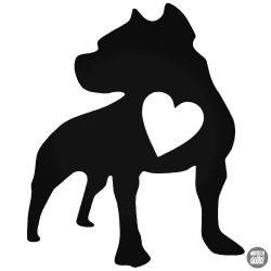 Pit bull szívvel matrica