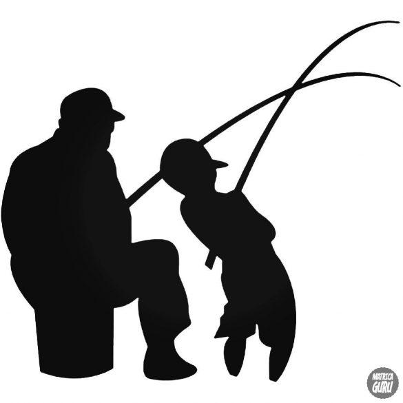 Apja fia horgászik matrica