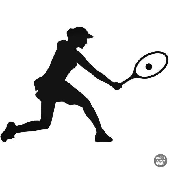 Teniszező nő matrica