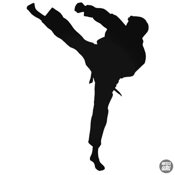 Karate rugás matrica