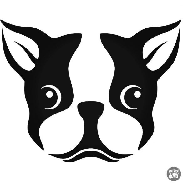 Francia bulldog fej matrica