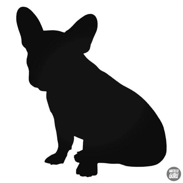 "Francia bulldog ""2"" matrica"
