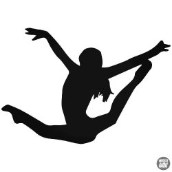 Lány gimnasztika matrica