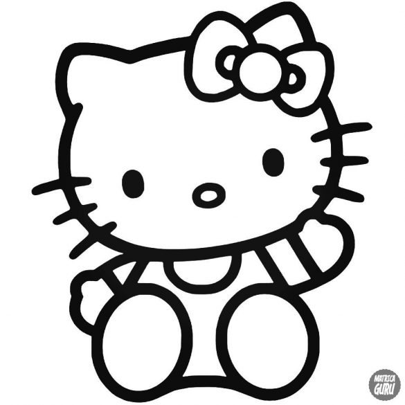 Integető Hello Kitty matrica