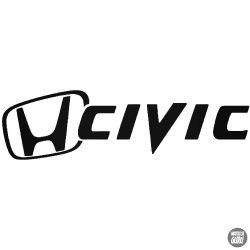 Honda matrica Civic jel és felirat