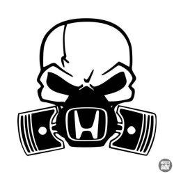 Honda matrica halálfej