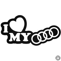 I Love My Audi matrica