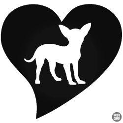 "Love Chihuahua ""1"" matrica"