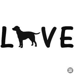 Love Labrador matrica