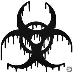 Folyós Biohazard matrica