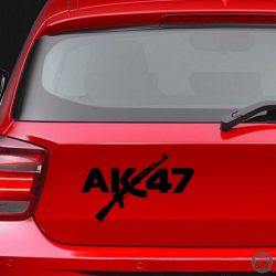 AK47 felirat Autómatrica