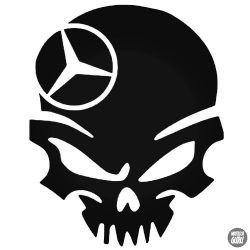 Mercedes koponya matrica