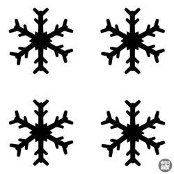 Mini hópelyhek matrica