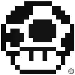 8-bit Mushroom Super Mario matrica