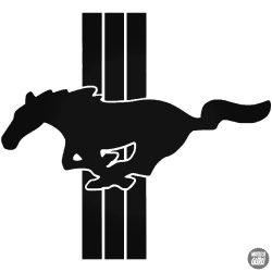 Mustang matrica csíkokkal