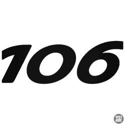 Peugeot matrica 106 felirat