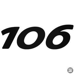 Peugeot matrica 106 felirat 1
