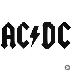 AC DC logó és felirat Autómatrica
