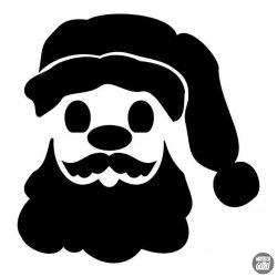 Santa karácsonyi matrica