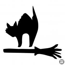 Haragos Macska Halloween matrica