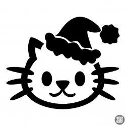 Karácsonyi cicus matrica