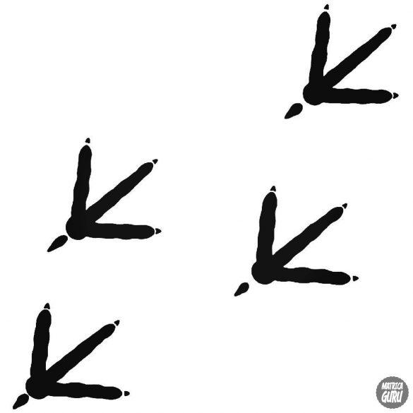 Madár lábnyomok matrica