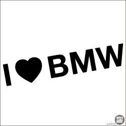 I Love BMW felirat matrica