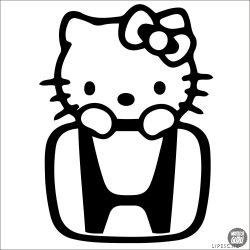 Honda matrica Hello Kitty