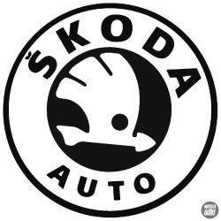 Skoda matrica autó embléma