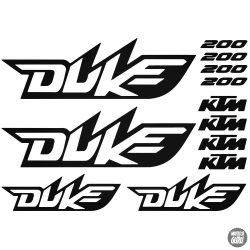 KTM 200 Duke szett matrica
