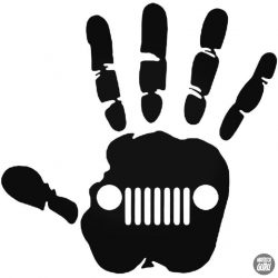 Jeep kéz matrica