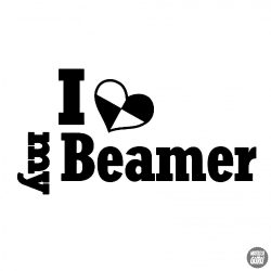 BMW matrica I Love My Beamer