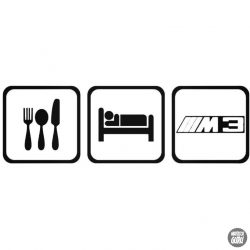 Eat Sleep BMW M3 matrica