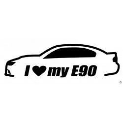 BMW matrica I Love MY E90