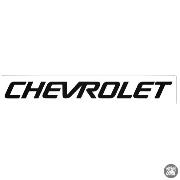 Chevrolet matrica régi felirat