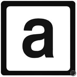 "Aprilia ""a"" betű ""1"" matrica"