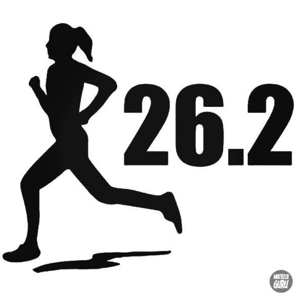Női futás Marathon matrica