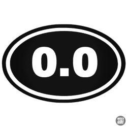 """0.0 """"1"""" felirat Autómatrica"""