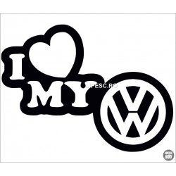 I Love My VW embléma matrica