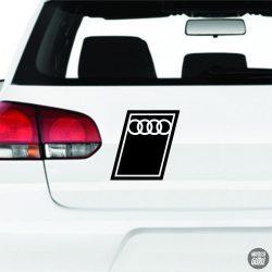 Audi logó Matrica