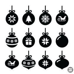 """Karácsonyi díszek """"9"""" szett Matrica (30 cm)"""
